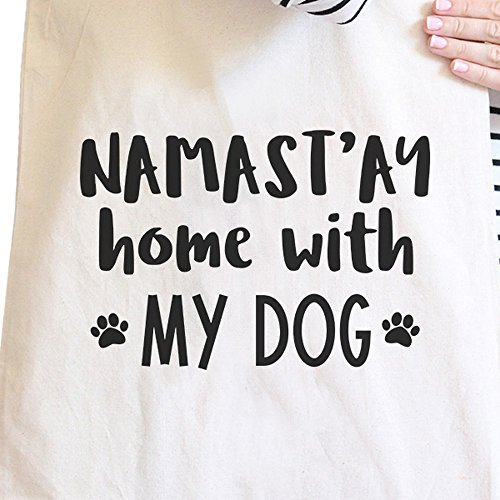 365 Printing inc , Borsa da spiaggia  Donna Mother Therapist And Friend Namastay Home With My Dog