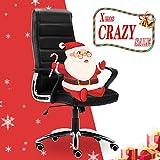 JL Comfurni Büro Gaming Stuhl, Kunstleder PU Leder Robustes Drehgelenk Home Bürostuhl, liegend Hohe Rückenlehne verstellbar Racing Stuhl Schwarz/Grün