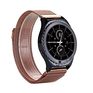 FOTOWELT per Samsung Gear S2 Classic Watch Band, Milanese Loop cinturino in Acciaio magnetico fibbia Wrist Band per Samsung Gear S2 Classic smart Guarda SM-R7320 SM-R732-Rose Gold