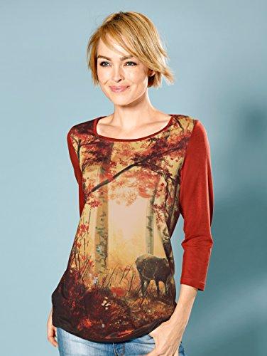 Damen Druckshirt mit einzigartigem Druck by Laura Kent Orange Bedruckt