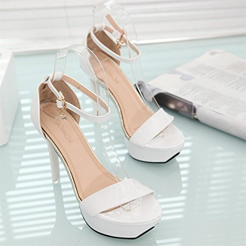 Malloom® Sandalen, Frauen Sommer Sandalen Open Toe High Heels Knöchel Strap Sandalen Schuhe Weiß