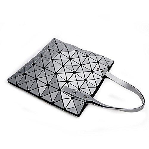 Nuovo Lingge Borse Matita Geometria Tendenza Spalla Pacchetto Diagonale Laser Borsetta Silver