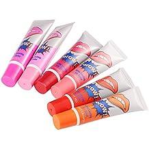 6x La magia y dura más tiempo impermeable del lápiz labial del lustre del labio 15ML