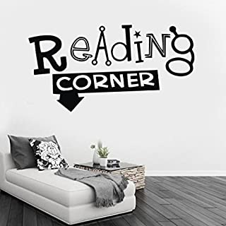 SMILEQ Lovely Quotes Wall Stickers Reading Corner Removable Art Vinyl Mural Home Room Decor (A)