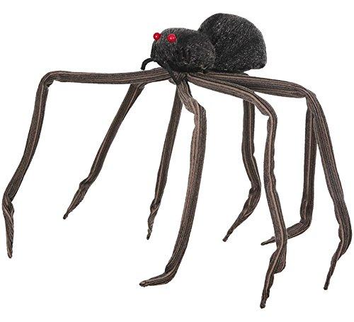 Araña Negra con patas largas 87 cm