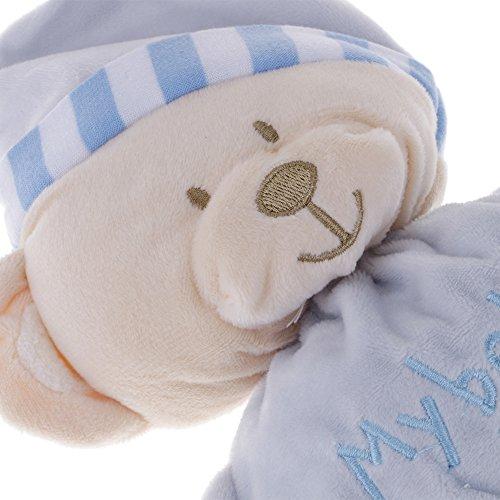 VANKER Peluche,Sombrero de dormir para bebés Oso Muñeca de sueño Muñecas de peluche suaves Juguetes Niño chupete color azul