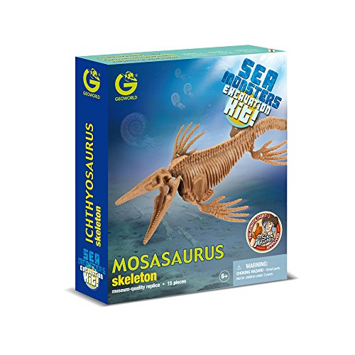 Geoworld CL757K - Sea Monsters Excavation Kit, Mosasaurus Skeleton