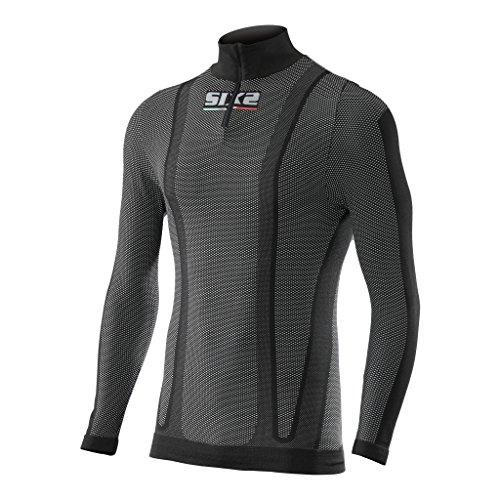 Preisvergleich Produktbild SIXS Carbon Zip Shirt Funktionsshirt schwarz XL - Motorrad Unterhemd