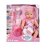 Baby Born 30878–Bambolotto interattivo ragazza 9funzioni e 11accessori inclusi
