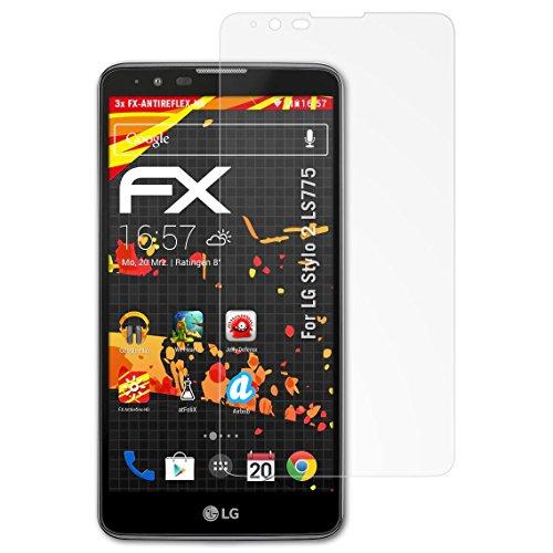 atFolix Schutzfolie kompatibel mit LG Stylo 2 LS775 Displayschutzfolie, HD-Entspiegelung FX Folie (3X)