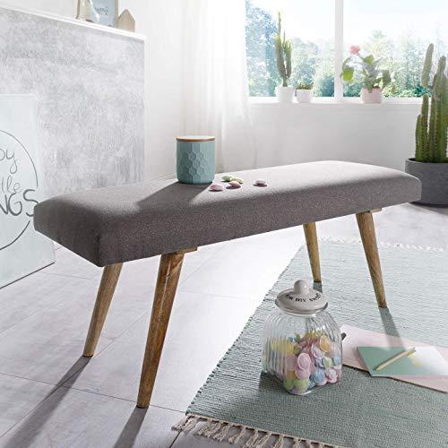 Wohnling Salim Sitzbank, Stoff, Grau, 117x51x38 cm