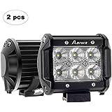 AAIWA Foco para Tractor,4 Pulgada 2pcs 18W LED, Faros para Tractores,Luces