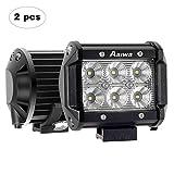 Foco Para Tractor,4 Pulgada 2pcs 18W LED de AAIWA,Faros para Tractores,Luces IP67 Impermeable para Coche,Todoterreno,Camion