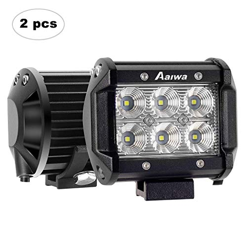 AAIWA Foco para Tractor,4 Pulgada 2pcs 18W LED, Faros para Tractores,Luces IP67 Impermeable para Coche,Todoterreno,Camion