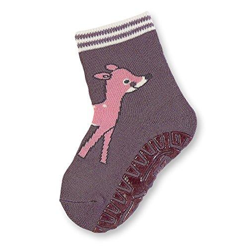 Sterntaler Mädchen Socken Fli Fli SOFT Rehkitz 8141712, Violett (Aubergine 607) Gr. 17-18