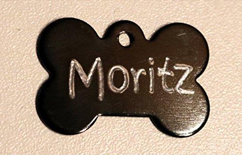 Creative Things (by Anja Betz) Adressanhänger, Hundehalsbandanhänger Knochen Mini mit Tiefengravur zweiseitig Telefonnummer, Name, Straße, Adresse