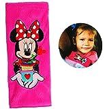 Unbekannt Gurtschoner / Gurtpolster -  Disney Minnie Mouse  - Gurtschutz - für Sicherheitsgurt - Gurt Polster - für Auto / Kindersitz / Autoschale - Schoner Autositz ..