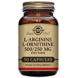 Solgar L-Arginine L-Ornithine 500 / 250 50 Vegetable Capsules