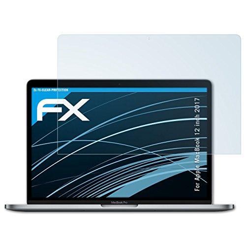 atFolix Schutzfolie kompatibel mit Apple MacBook 12 inch 2017 Folie, ultraklare FX Bildschirmschutzfolie (2X)