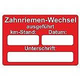 KFZ Serviceaufkleber / Inspektionsaufkleber 60 x 40 mm - 250 Stück - verschiedene Varianten (Zahnriemen-Wechsel)