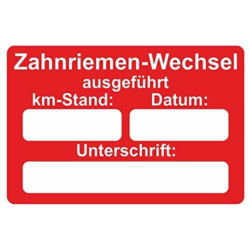 Preisvergleich Produktbild KFZ Serviceaufkleber / Inspektionsaufkleber 60 x 40 mm - 250 Stück - verschiedene Varianten (Zahnriemen-Wechsel)