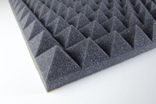 Akustikschaumstoff - Pyramidenschaumstoff 50 mm - Anthrazit 1000x500x50mm 0,5mq - Platte 0.5-platte