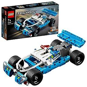 LEGO Technic InseguimentodellaPolizia, Macchina Dotata di Motore Pull-Back, Set da Costruzione per Bambini e Bambine dai 7 Anni in su, 42091 5702016369366 LEGO