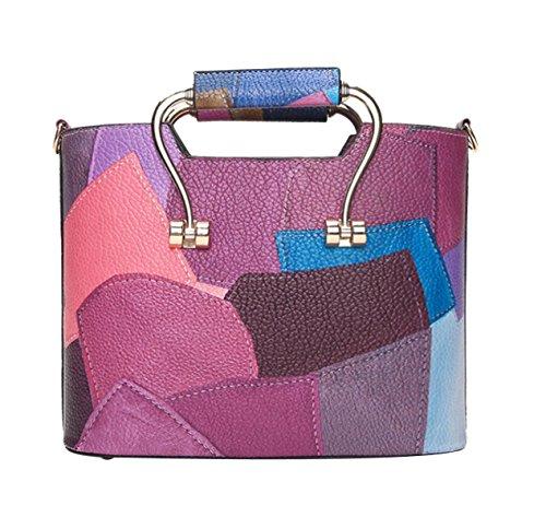 Lady Geldbeutel Handtaschen Kleine Freizeit Top-Griff Taschen Schultertasche Purple