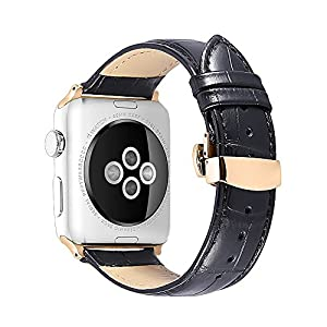 Leather Compatible/Replacement for Apple Watch Band 38mm 42mm 40mm 44mm iStrap Genuine Watch Strap Replacement Wrist Bracelet Sport Edition Series 4 1 & 2& 3