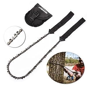 Overmont Handkettensäge Kettensäge AST-Säge Gartensäge mit 48 Zähnen aus Stahl Outdoor für Camping Garten Survival…