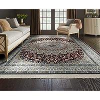 Al Salem Carpet Carpet Royal Palace Collection Classic Area Rug, 067 CM x 105 CM, RED