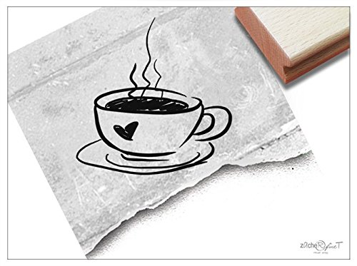 Stempel - Motivstempel Kaffee-Tasse groß - Bildstempel für Grüße Geschenk, Karten Einladung Gutschein Basteln Deko - von zAcheR-fineT