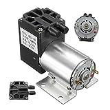 Mini pompa di aspirazione negativa DC12V di piccola dimensione Stabile pompa a vuoto di pressione negativa 5L / min 120kpa per analisi del gas Colore di campionamento: nero & argento