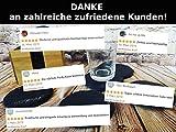 10er Set Premium Schiefer Untersetzer rund | inkl. Kreide u. Schwamm | Naturstein Schieferplatten Glasuntersetzer | Ø 10 cm - 7