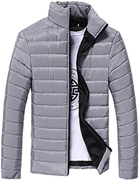 FNKDOR Abrigo de los muchachos de los hombres, cuello caliente del soporte Chaqueta con capucha delgada del invierno...