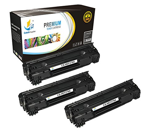 Catch Supplies Replacement CF279A - 79A Black Toner Cartridge 3 Pack |1,000  yield| Compatible with HP LaserJet Pro MFP M26nw, M26a, HP LaserJet Pro