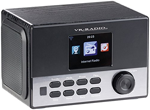 VR-Radio WLAN Radio: WLAN-Stereo-Internetradio, DAB+, Wecker, USB, 20 W, 8,1-cm-Display (Internet Radios)