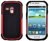 G-Shield Coque Samsung Galaxy S3 Mini, Étui Housse de Protection [Anti-Choc] [Résistance Extrême] Coque de Protection Hybride pour Samsung Galaxy S3 Mini - Rouge