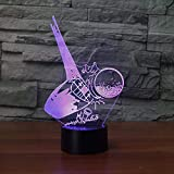 WJPDELP-YEDE 3D Led Colorful Gradient Atmosphere Fixture Creative Kickoff Ball Golf Table Lamp