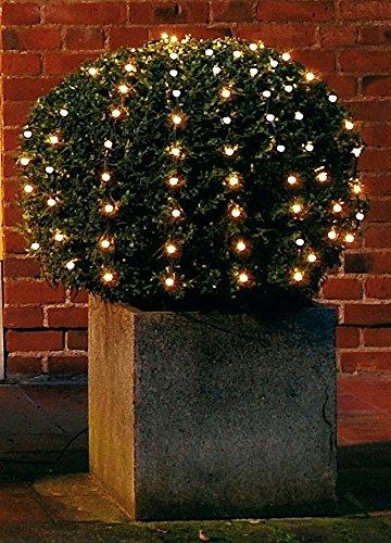 LED Netz Lichterkette - ca. 90cm Durchmesser - 100 LED warm/weiß