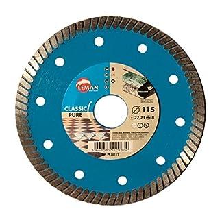 Leman 930115 Disco de diamante para porcelánico (diámetro 115 mm), azul, 115 x 22,23 mm