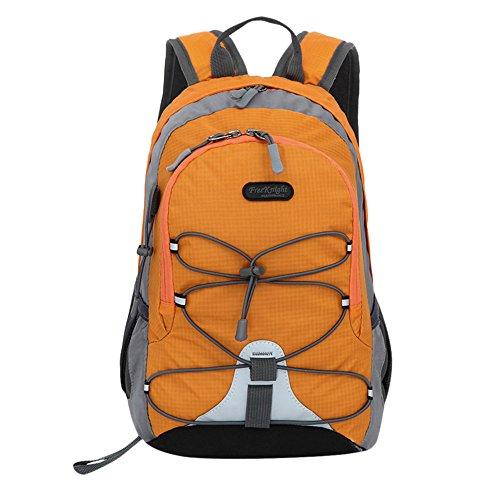 Kinder Jungen Mädchen Wasserdichter Outdoor Rucksack Bookbag Schultasche Trekking Leichter Rucksack für Frauen Herren Free Orange (Rucksack Bookbag)