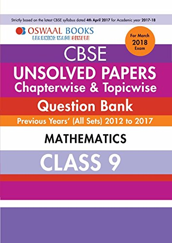 Oswaal Unsolved Paper Question Bank Class 9 Mathematics (Mar.2018 Exam)