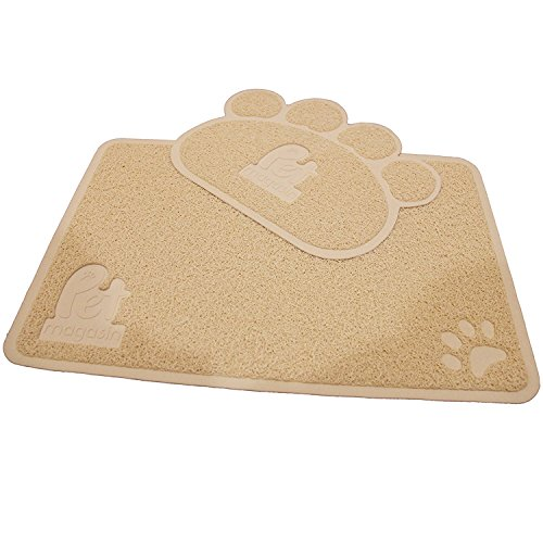 Pet Magasin - La alfombrilla para arenero de gato (Conjunto de 2 alfombrillas). Alfombrilla no tóxica, suave, duradera y resistente al agua para Gatos, Perros y Cachorros (Medianos)