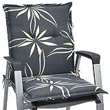 Beautissu Niedriglehner Auflage für Gartenstuhl Loft NL Flower 100x50x6 Bequemes Sitzkissen Polsterauflage UV-Lichtecht & weitere Designs