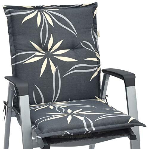 Beautissu cuscino per sedie da giardino loft nl 100x50x6cm - comodissima imbottitura - made in eu - flower