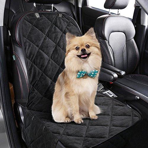 Hundedecke Auto,Komake Hunde Autositz,Hund Sitzbezug,Hundeschutzdecke Auto,Hund Autositzbezug,Autoschondecke für Hunde,Hunde Autodecke,Autoschutzdecke Hund mit Hunde Sicherheitsgurt für PKW KFZ SUV Auto Sitzbezüge Rückbank