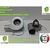 Extractor humos para estufa de pellets, ventilador + encoder universal, 40W, DN 80,clase H