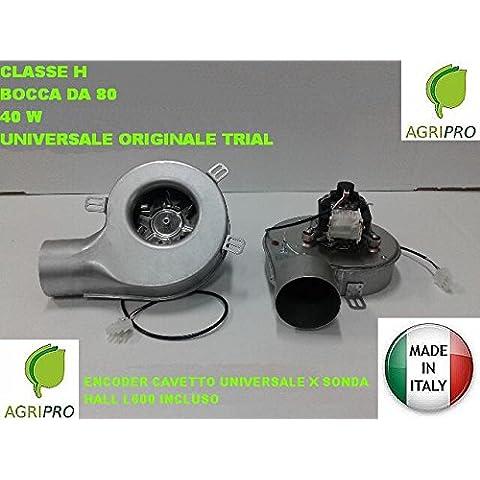 Extractor humos Estufa Pellets Ventilador + Encoder universal 40W D. 80Clase H