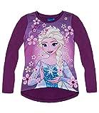 Disney Frozen Langarmshirt für Mädchen (140, violett)